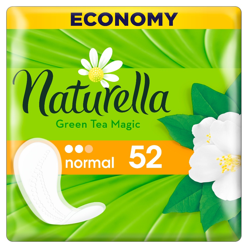 NATURELLA Women's sanitary pads for every day Green Tea Magic Normal (with the aroma of green tea) Trio 52pcs цена