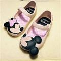 13-15.5cm mini style Mickey Minnie kids toddler baby footwear little girls crystal jelly shoes children beach Sandals cheap