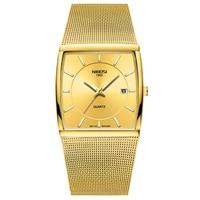 Business fashion mesh steel quartz men's watch leisure calendar wristwatch