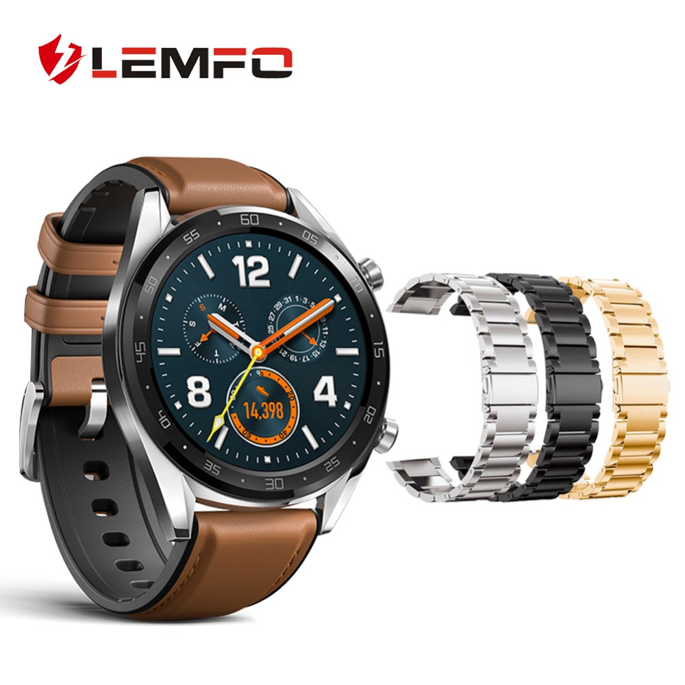 LEMFO Smart-Band Huawei Watch Fitness Bracelet for Gt Strap Steel-Replacement Fashion
