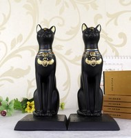 Vintage Cat Bookends High Grade Office Decorations Resin Crafts Egyptian Cat Lucky House Ornaments Creative GIFT, Free Shipping