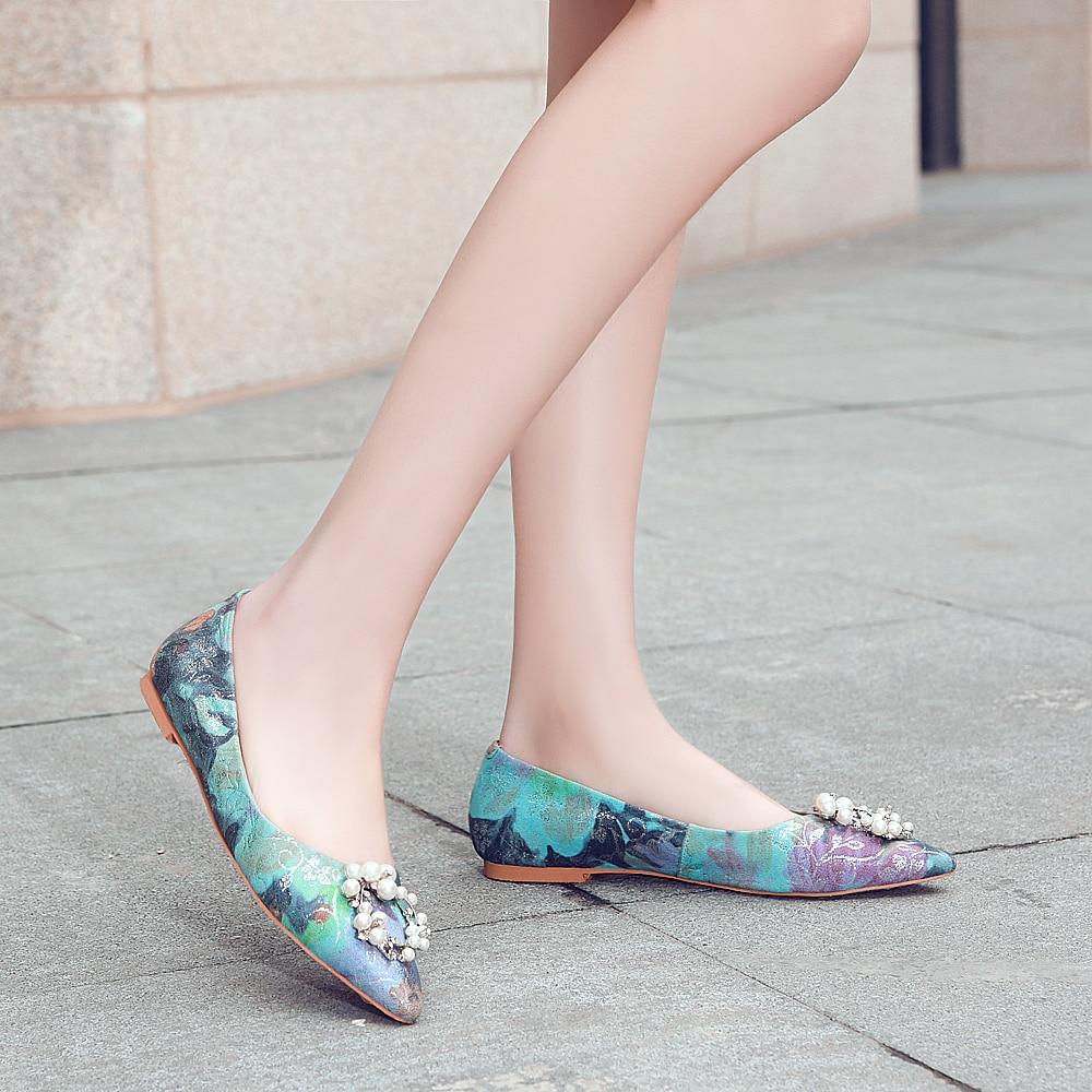 En Najaar Nieuwe Producten mannen Schoenen Koreaanse Ronde Hoofd mannen Casual Oxford Schoenen Leer Goud Geborduurde Dating schoenen - 5