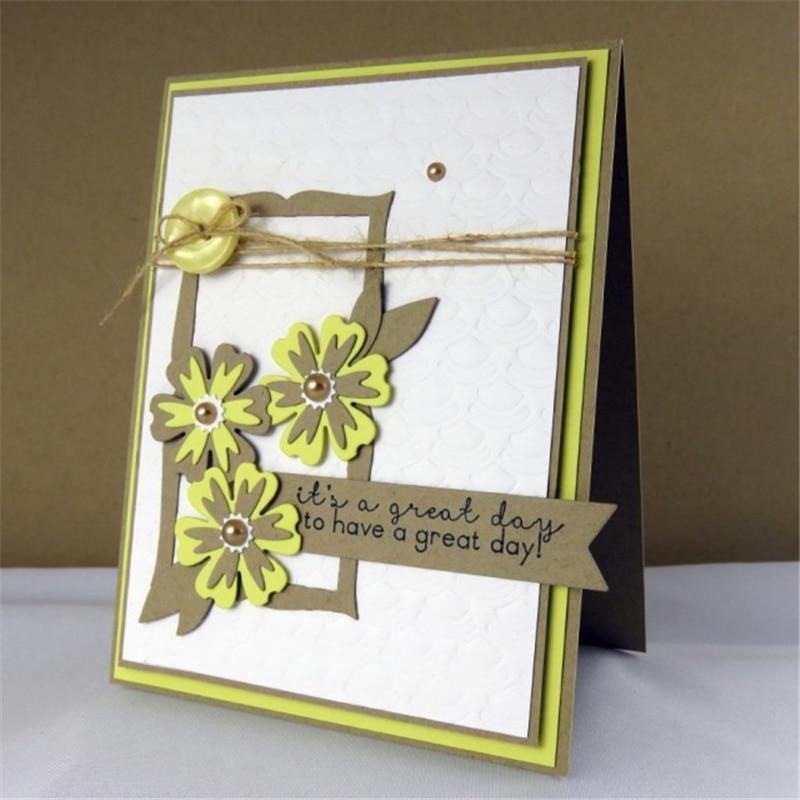 YaMinSanNiO Flower Dies Scrapbooking Metal Cutting New 2019 Die Cuts for Card Making 3 Tyles Flower Plant Craft Dies Embossing in Cutting Dies from Home Garden