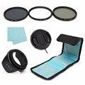 67mm UV CPL Circular Polarizing ND4 Lens Filter Kit Hood For Canon For Nikon For Sony DSLR Import Optics Glass Resin