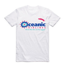 2017 Summer Fashion Oceanic Airlines Men T Shirt Tall Novelty Print O Neck T-shirt Cool Short Sleeve Men's Clothing