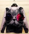 Новая Коллекция Весна Мужчины Пуловеры 2017 Мода Женщины/Мужчины Личность Печати 3D Толстовки Костюмы Спортивная Спортивные Костюмы S-XL