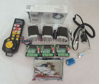 Mach3 USB CNC Router Kit 3 Axis, 3pcs stepper motor driver + mach3 USB interface board + 3pcs nema23 stepper motor +power supply