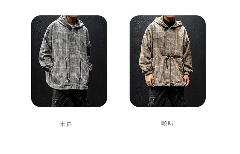 Korean Trench Coat Men Overcoat Hood Slim Fit (2)