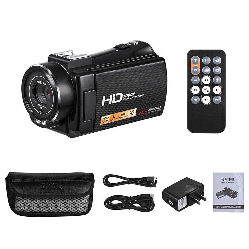 Ordro HDV-V7 Plus Appareil Photo Numérique HD 1080 P 3' Écran IR Nuit Vision Caméra Professionnel Caméscope Télécommande Caméra Vidéo - 6