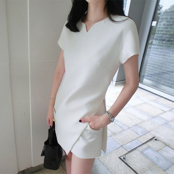 Women Summer Outfits 2 Pieces Casual Short Sleeve Top And Shorts Sets Solid White Long Shirt Sets Elegant Office Lady Suits