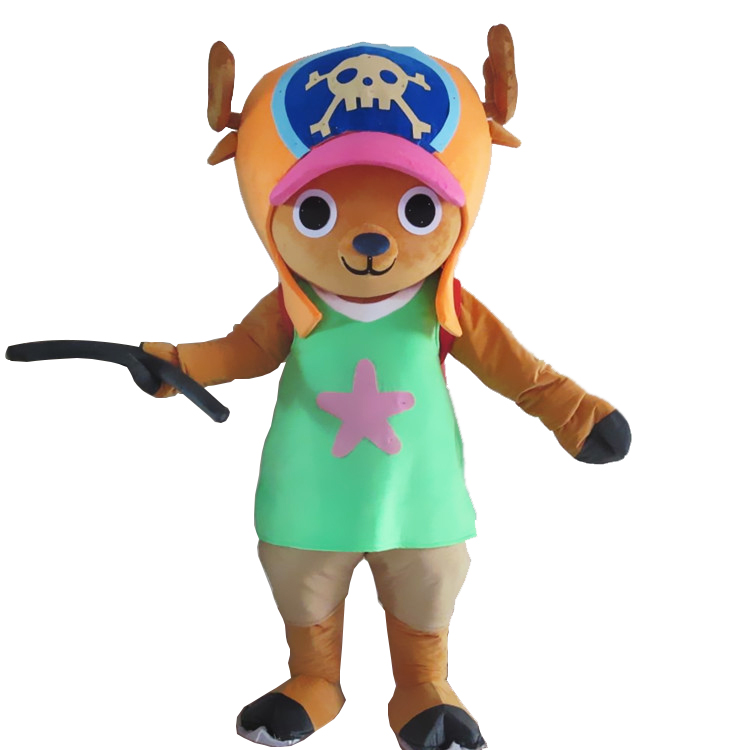 Deer Mascot Costume ONEPIECE Tony Chopper fantasia dress costume for adult Halloween party