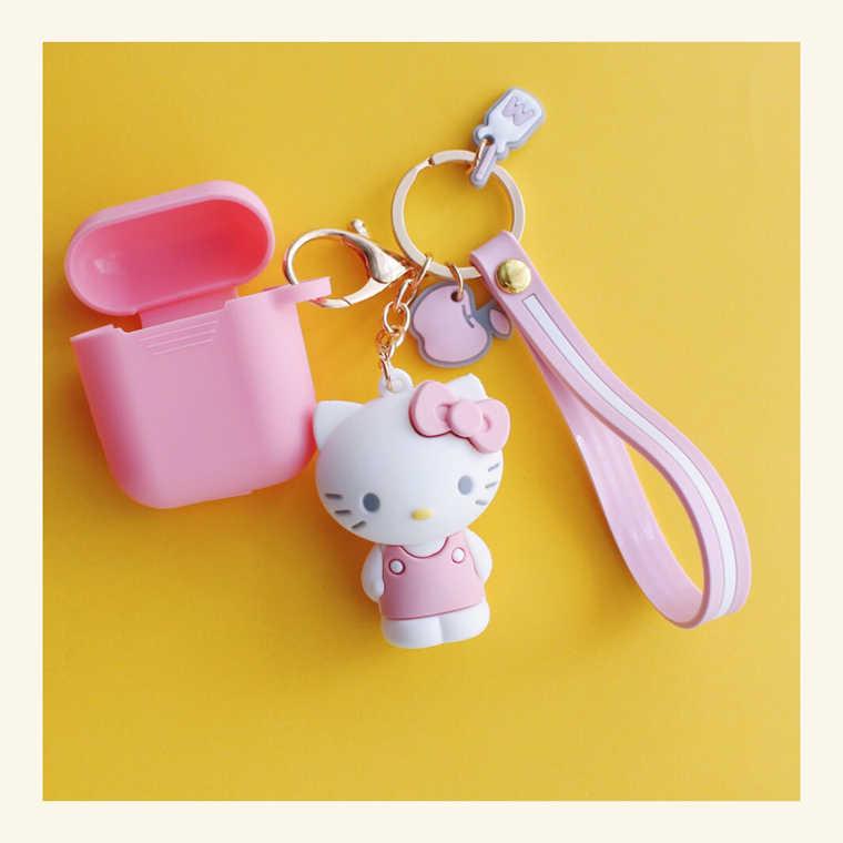 Japão bonito dos desenhos animados Melody silicone Para Airpods Caixa de Proteção Sem Fio Bluetooth fone de Ouvido cão Adorável rosa Olá Kitty