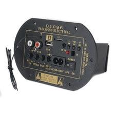 DIY HiFi Tablero Del Amplificador 12 V 24 V 220 V 80 W de Alta Potencia Bluetooth Mini Subwoofer Coche Del Tablero Del Amplificador DEL USB DEL TF Para La Motocicleta coche