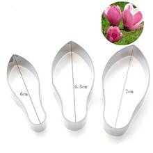 3pc/set Stainless Steel Magnolia Flower Petal Fondant Mold Cake Tools Biscuit Cookie Cutter Baking Decorating for Cakes