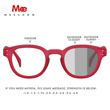 MEESHOW photochromic sunglasses Blue Light Blocking women men reading glasses with diopter round  female 1513