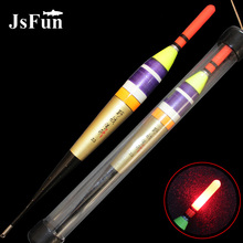 JSFUN LED Electronic Fishing Float Luminous Rock Fishing Buoy with CR425 Battery 0.8#-2.5# Night Fishing Tackle YF03
