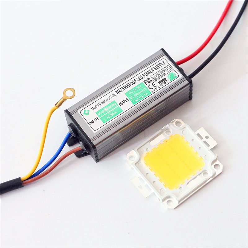 1set full watt 10w 20w 30w 50w 100w cob integrated led diode chip lamp bulb power driver for. Black Bedroom Furniture Sets. Home Design Ideas