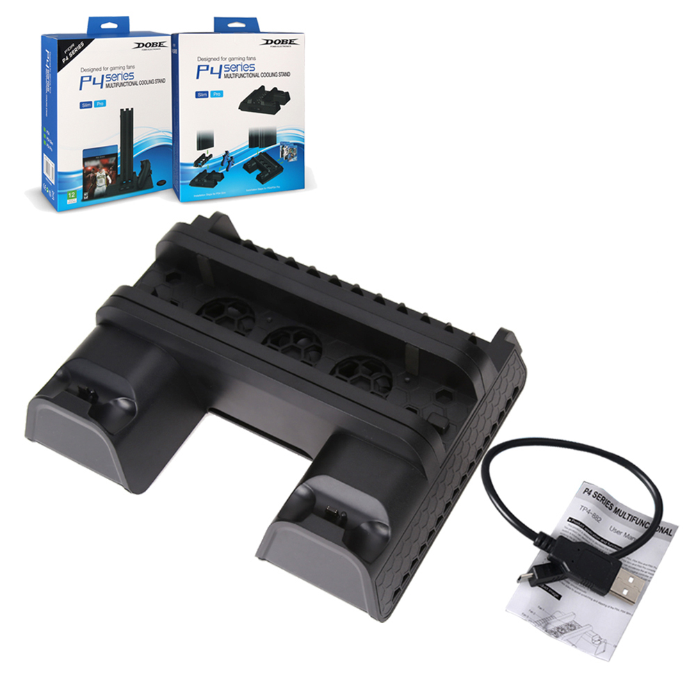 For PS4 Series Verticall stand Multi-Functional Cooling Pad Cooling Dock Stand with USB Cable for PS4 /PS4 Slim/ PS4 Pro console