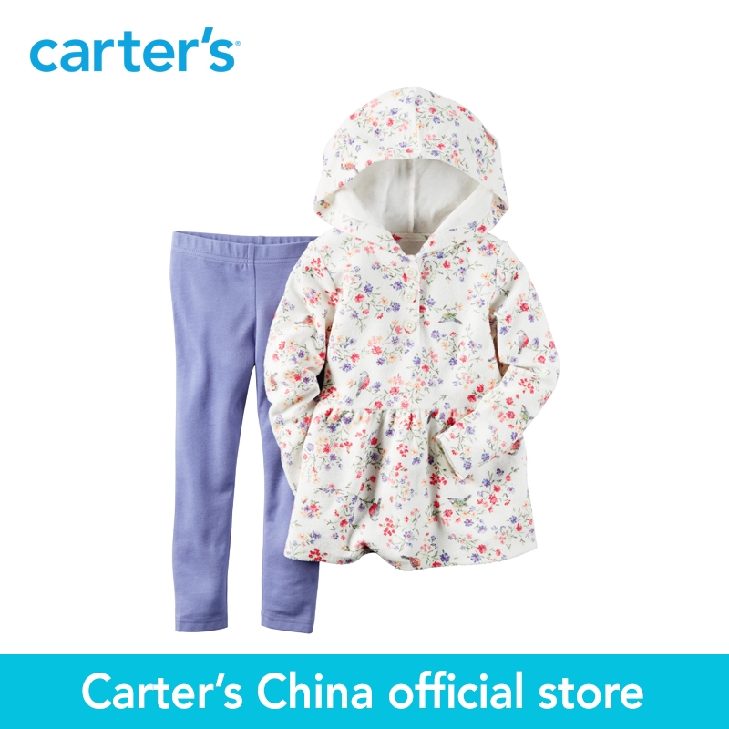 Carter's 2pcs baby children kids 2-Piece French Terry Hoodie & Legging Set 239G228 ,sold by Carter's China official store disney baby baby girls newborn 2 piece legging set