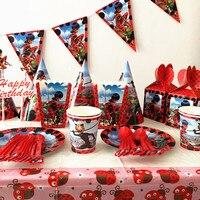 87Pcs Miraculous Ladybug Cartoon Kids Boys Baby Birthday Decorative Party Event Supplies Favor Items For Children