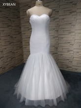 ! Good Quality 2015 Mermaid Sweetheart White / Ivory Wedding Dresses FS1136