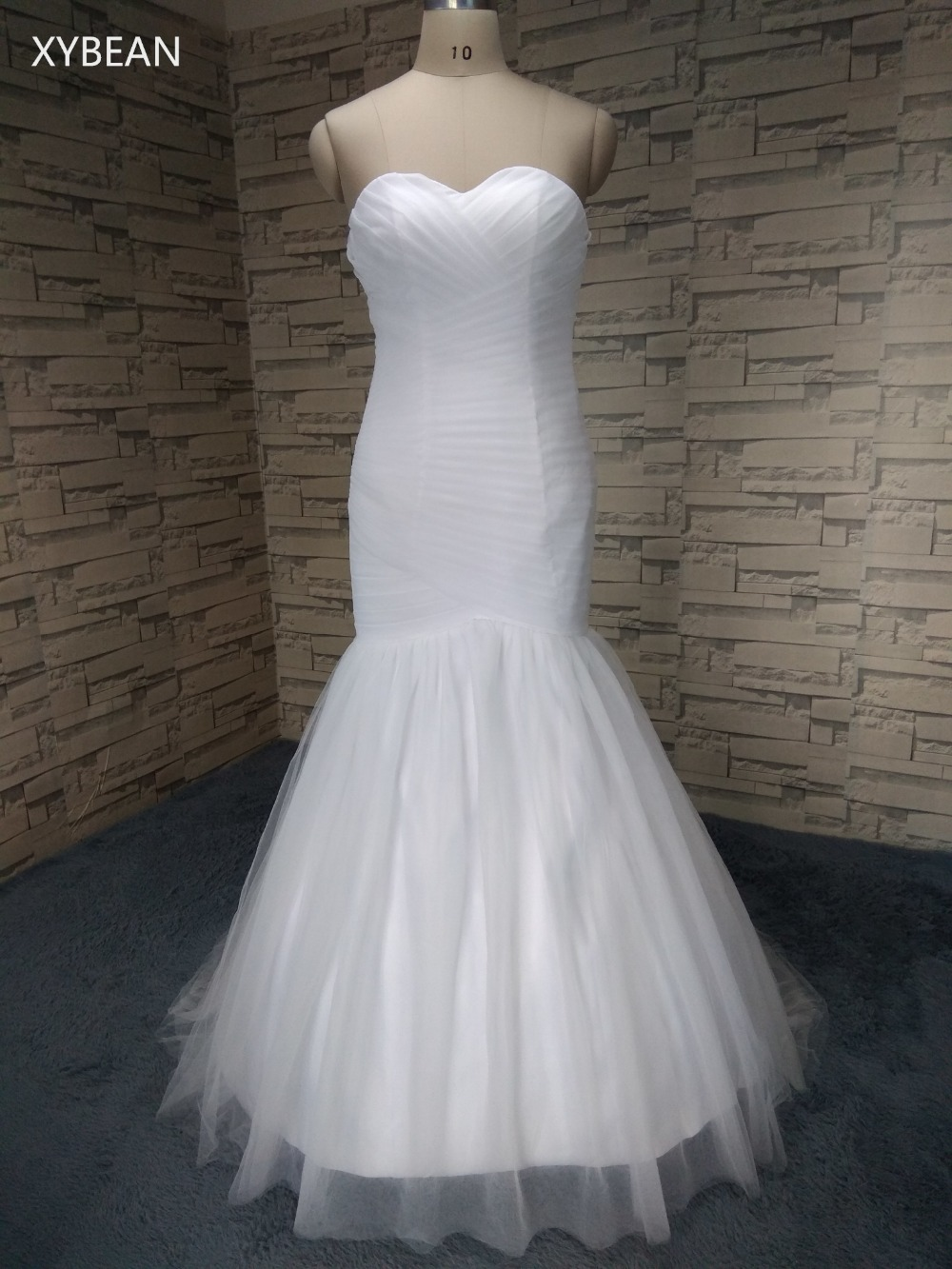 Cheap Price ! Good Quality Free Shipping 2015 New Arrival Mermaid Sweetheart White / Ivory Wedding Dresses FS1136