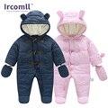 Mantenha quente no Inverno roupas Infantis Bebê Recém-nascido Da Menina do Menino Romper Macacão Com Capuz Criança Outerwear Para 0-18 M