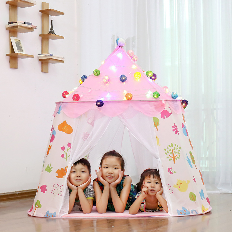 Childrens indoor tent baby play house princess girl boy toy house small house contract yurt for baby birthday giftsChildrens indoor tent baby play house princess girl boy toy house small house contract yurt for baby birthday gifts