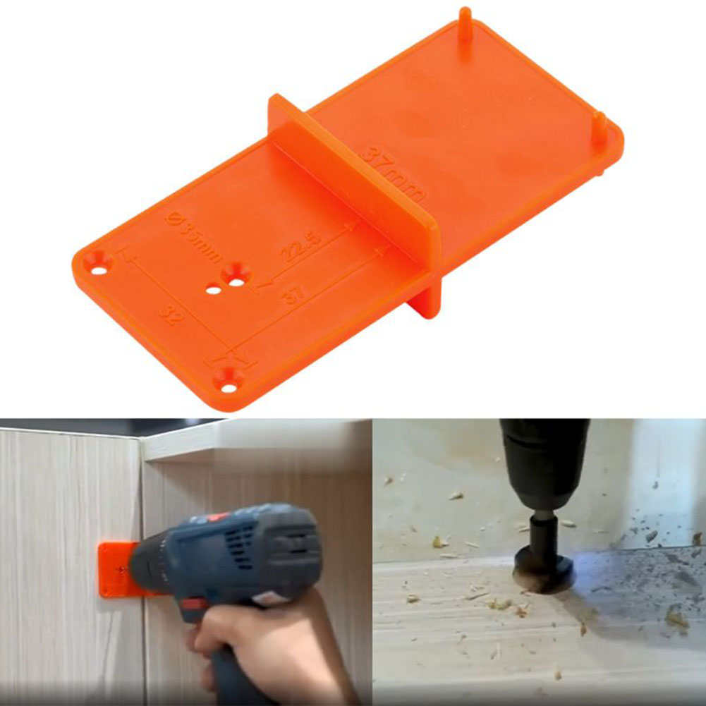 Template Door Cabinets DIY Tool Hinge Hole Drilling Guide Locator Hole Opener  For Woodworking Tool
