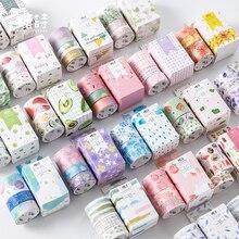 60 sztuk/partia siedem minut dziewczyny serca serii dekoracji taśmy maskującej taśmy washi