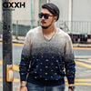 Sweaters Men Fashion Plus 7XL 6XL 5XL PULLOVER Gradient Casual Christmas New Year Sweater Pull Homme