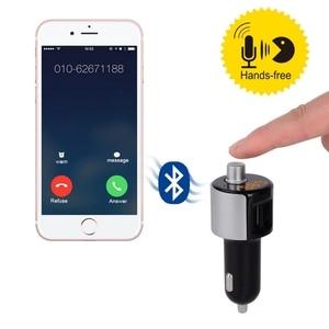 Image 5 - 2 puertos USB cargador de coche Bluetooth JL 2,1 reproductor USB Auto FM sistema estéreo pantalla LED vehículo transmisor FM micrófono incorporado