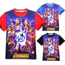 Summer Boy T Shirt Kids Clothing Avengers Endgame Quantum Realm Boys Cartoon Cotton Tees Clothes  Children Marvel