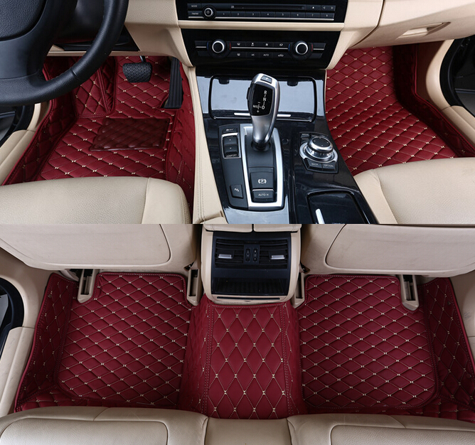 Best quality! Custom special car carpets for Maserati Ghibli 2018 2014 waterproof durable car mats for Ghibli 2017,Free shipping