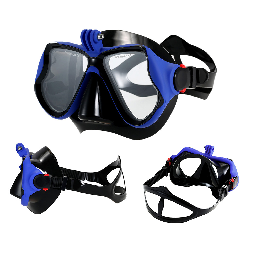 Snorkeling Combo Set Anti fog Goggles Mask Snorkel Tube Fins Swimming Scuba Diving Travel Snorkeling Goggles with Gear Bag-in Diving Masks from Sports & Entertainment    2