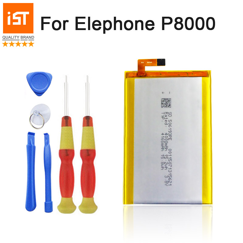 2017 New 100% IST Original 4165mAh Mobile Phone Battery For Elephone P8000 High Quality  ...