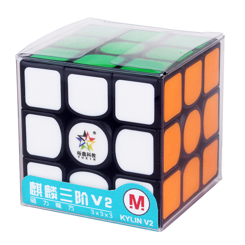 Newest Original YuXin Kylin V2 M 3x3x3 Magnetic 5.7cm Magic Cube Professional Zhisheng 3x3 Speed Cube Educational Toys For Child