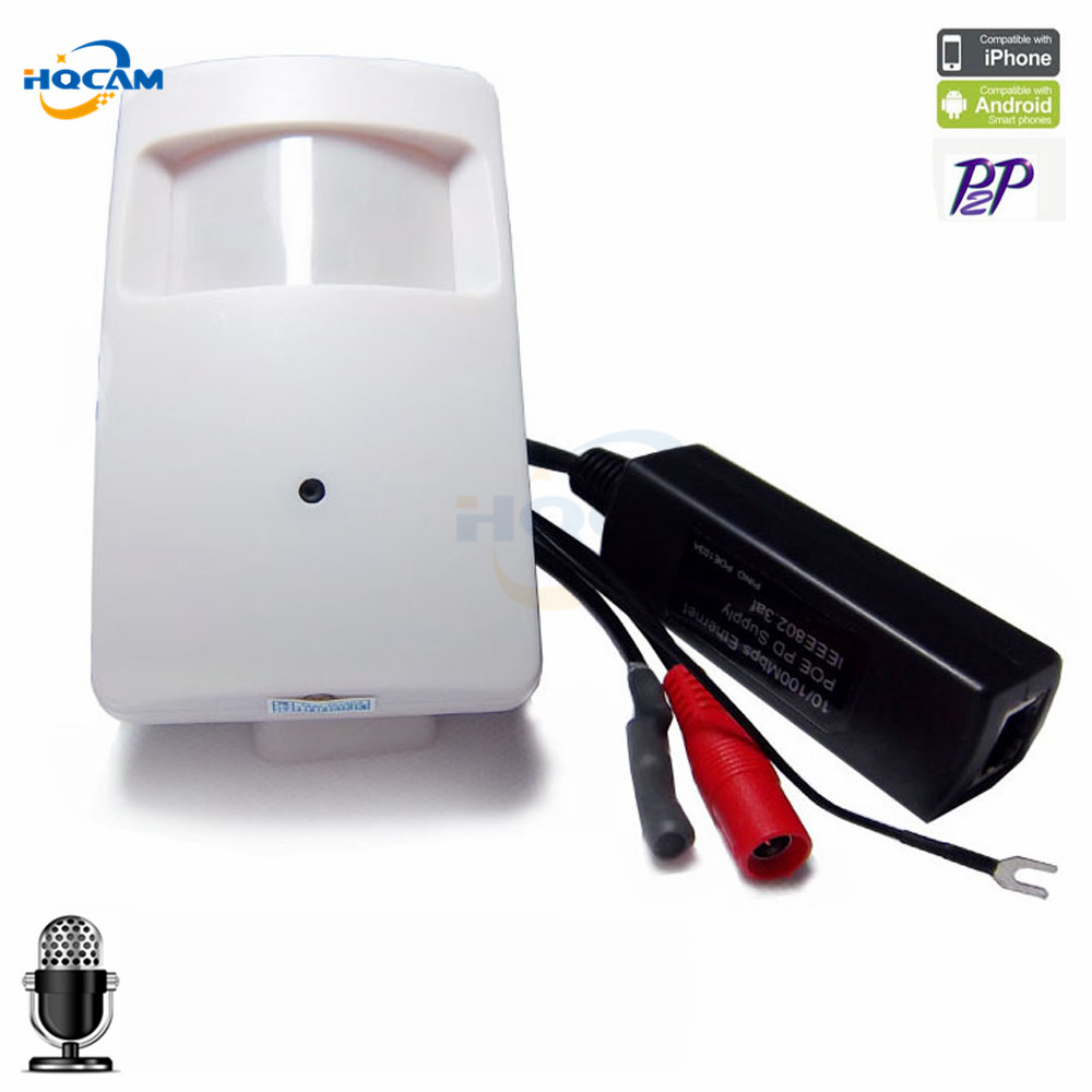 Hqcam IP-камера 1080 P PoE ONVIF P2P plug and play мини ПИР Камера IP POE ip-камера ПИР Стиль детектор движения мини POE Камера