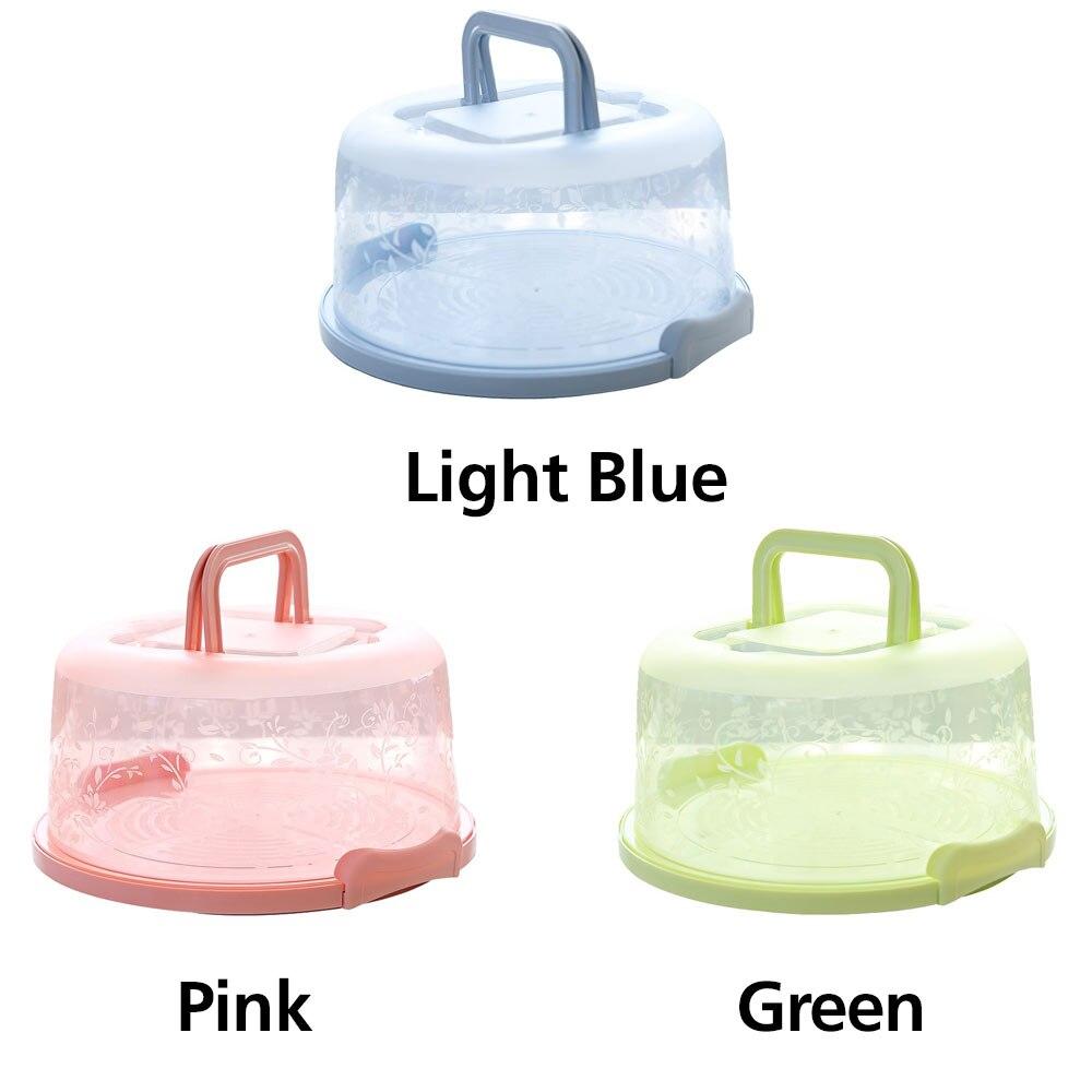 Контейнер для кексов карманная упаковочная прочный круглый коробка для хранения торта портативная кухонная принадлежность пластиковый контейнер для пирога с днем рождения