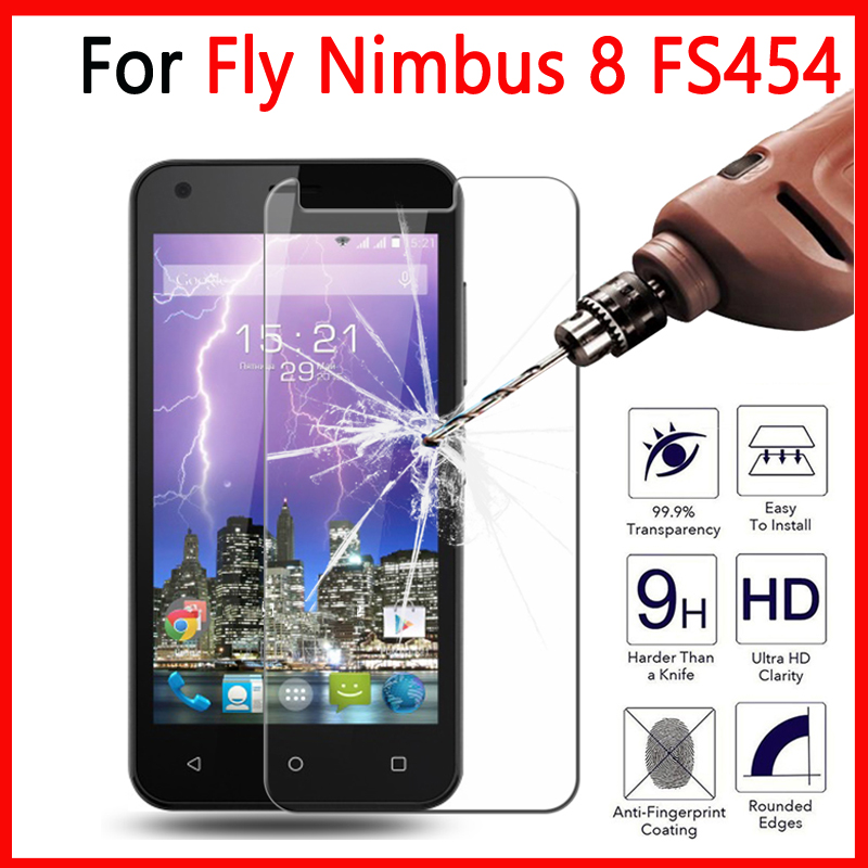 9 H 2.5D For Fly Nimbus 8 FS454 Tempered Glass Screen Protector For Fly Nimbus 8 FS 454 Protective Anti-Explosion Cover Films