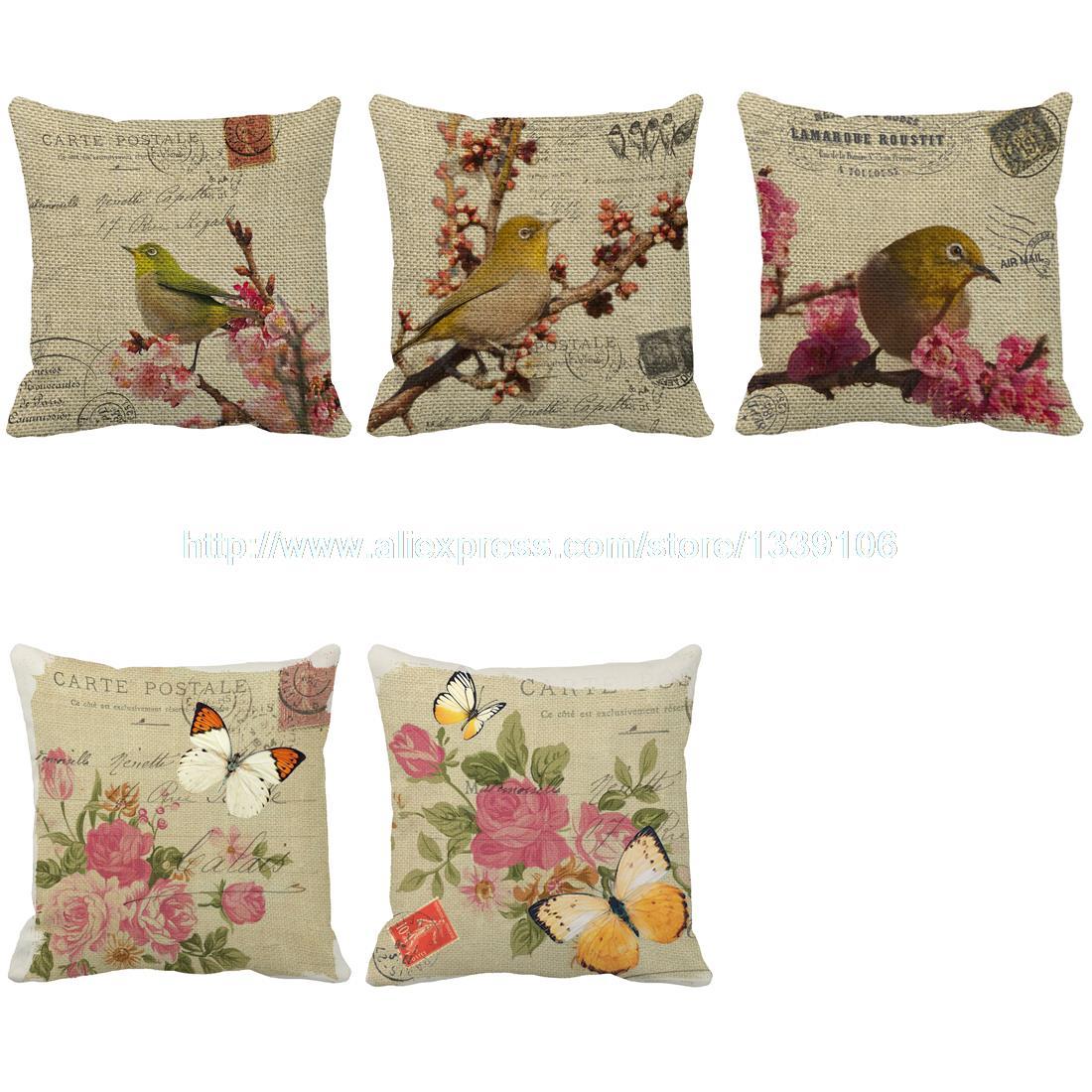 Russe rétro rural brids floral série personnalisé Personnalisé chaise lit retour coussins décor à la maison canapé throw décoratif oreillers
