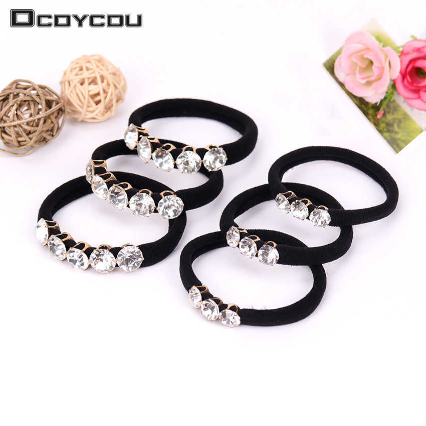 1PC Hair Accessories for Girls Scrunchy Rhinestone Elastic Hair Bands Children Ponytail Decorations Headwear Gum for Hair Ties