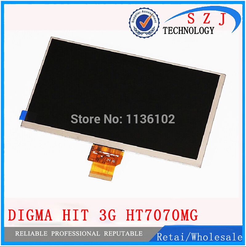 Original 7 inch  LCD display for Digma hit 3G ht7070mg Tablet TFT 40pin LCD Screen Matrix Digital Replacement Free Shipping new 8 inch replacement lcd display screen for digma idsd8 3g tablet pc free shipping