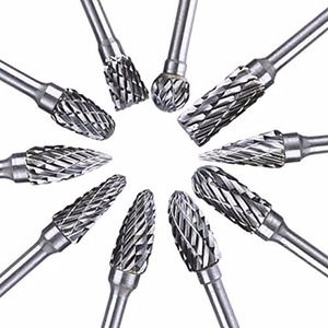 """Image 3 - 10pcs 1/8"""" Tungsten Carbide 3mm Drill Bits Rotary Burrs Metal Diamond Grinding Woodworking Milling Cutters For Drill Bits"""