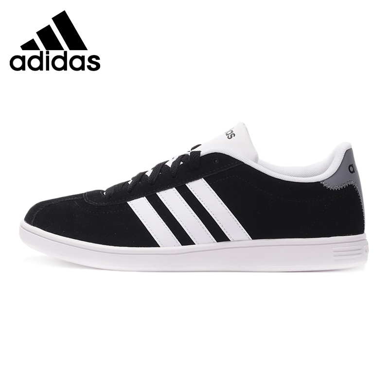 Original Authentic Adidas NEO Label Flat Low Top Men's Skateboarding Shoes Low Top Sneakers Anti-Slippery Hard-Wearing Leisure low top velcro sneakers