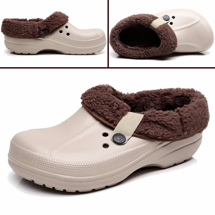 Women's Winter Clogs Men's Garden Shoes EVA Waterproof Outdoor Slippers Clogs For Men Women Clog Man Candy Color Warm 36-44 (5)