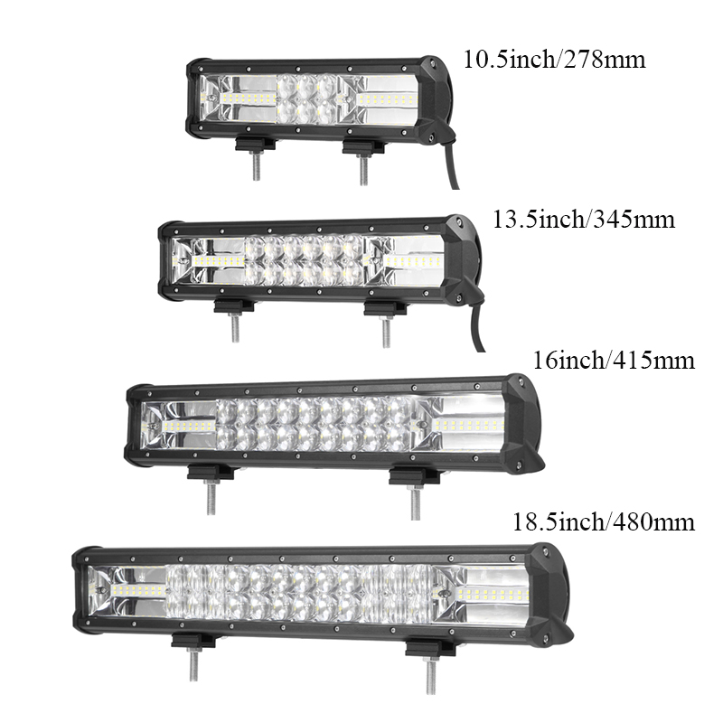 10.5 13.5 16 18.5 21.5 24 29 32 5D LED Work Light Bar Combo Truck Driving Off-road ATV Truck SUV Auto Light Bar Work Lamp image