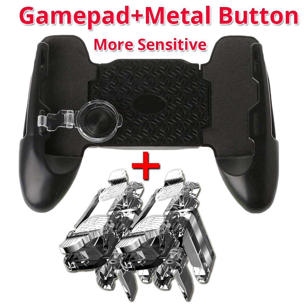 gamepad with metal button