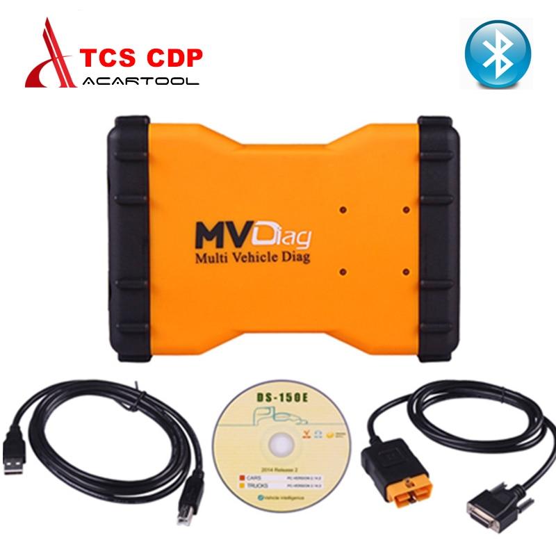 Prix pour 2016 Nouveau VCI MVDiag Avec Bluetooth Universel pour VOITURE CAMION De Diagnostic TCS CDP Multi Véhicule Diag MVD livraison gratuite
