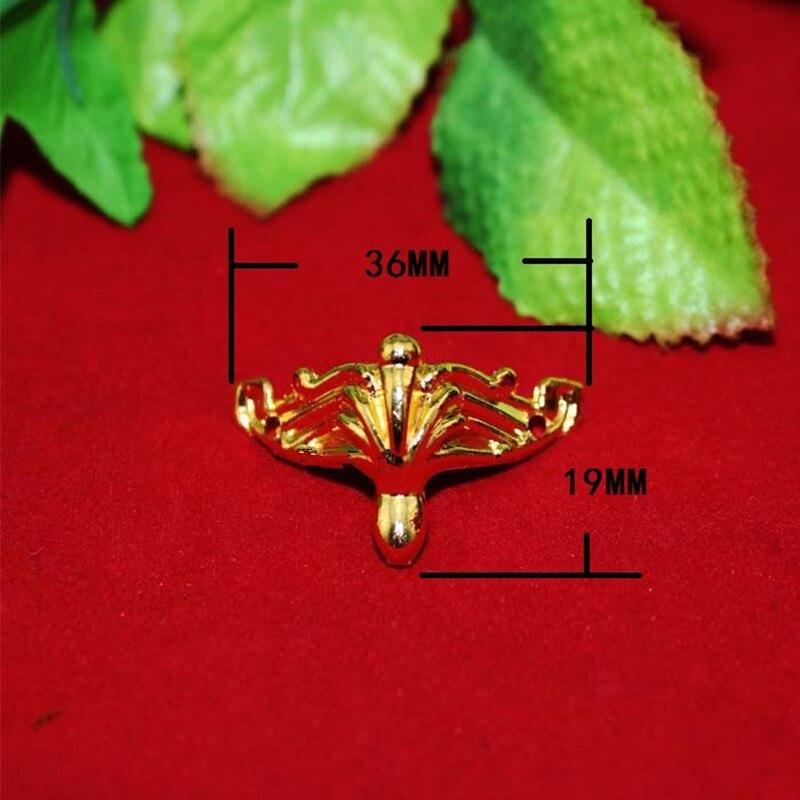 Furniture Hardware Hardware Bulk Antique Zinc Alloy Jewelry Gift Box Wood Case Deco Carving Corner Protector,mini Furniture Foot,gold Color,36*19mm,200pcs Terrific Value